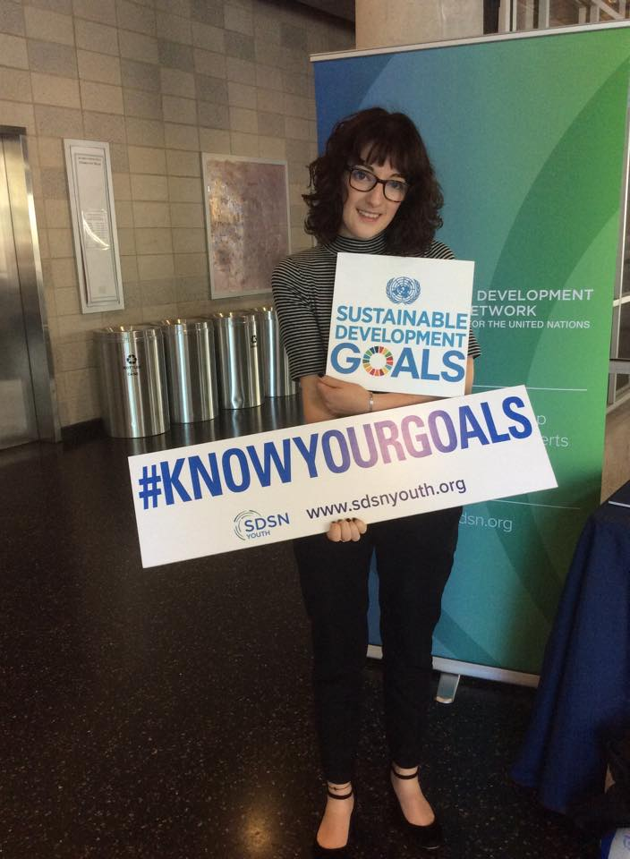 Skillshare returned volunteer Fletch Williams at the Global Goals launch.